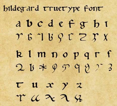 Hildegard-TrueType-Font-Sample1